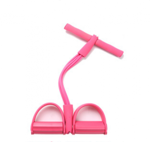 Natural Latex Foot Pedal Elastic Pull Rope with Handle Fitness Equipment Bodybuilding Expander