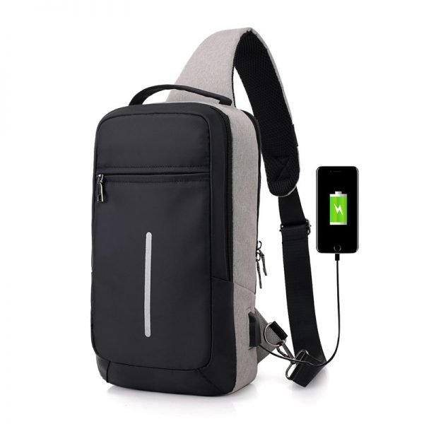 Anti-theft USB charging chest bag with you