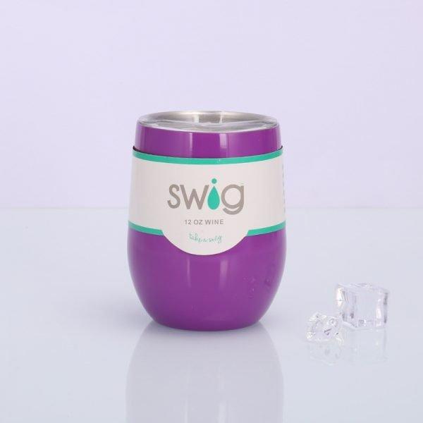Swig eggshell cup 12oz stainless steel wine mug
